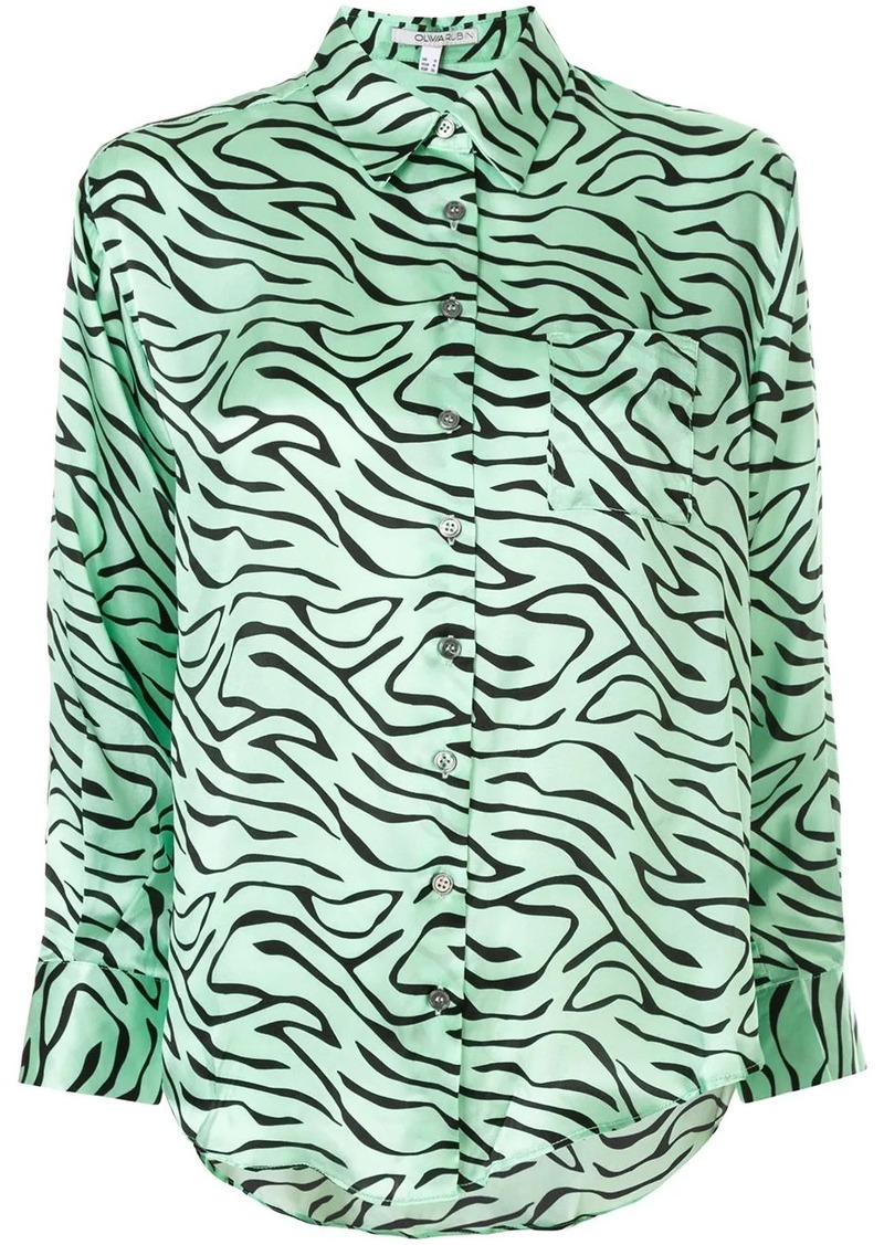 Olivia Rubin zebra print shirt