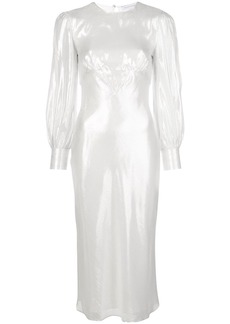 Olivia von Halle Aureta fitted midi dress