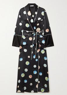 Olivia von Halle Capability Printed Silk-satin Robe