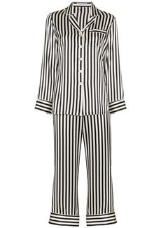Olivia von Halle Lila striped pyjama set