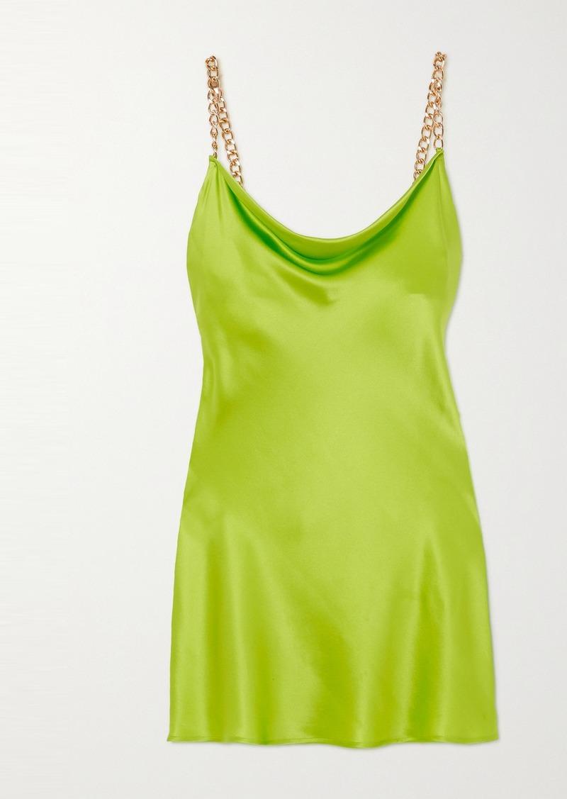 Minnie Chain-embellished Silk-satin Mini Dress