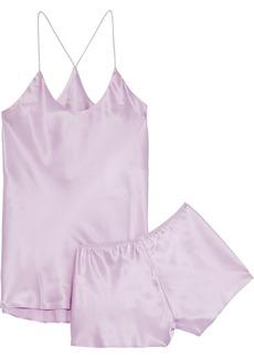 Olivia Von Halle Woman Bella Silk-charmeuse Pajama Set Lilac