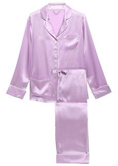 Olivia Von Halle Woman Coco Silk-charmeuse Pajama Set Lilac