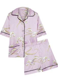 Olivia Von Halle Woman Millicent Printed Silk-satin Pajama Set Baby Pink