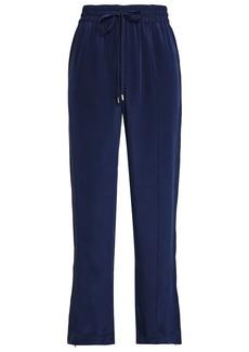 Olivia Von Halle Woman Silk Crepe De Chine Pajama Pants Navy