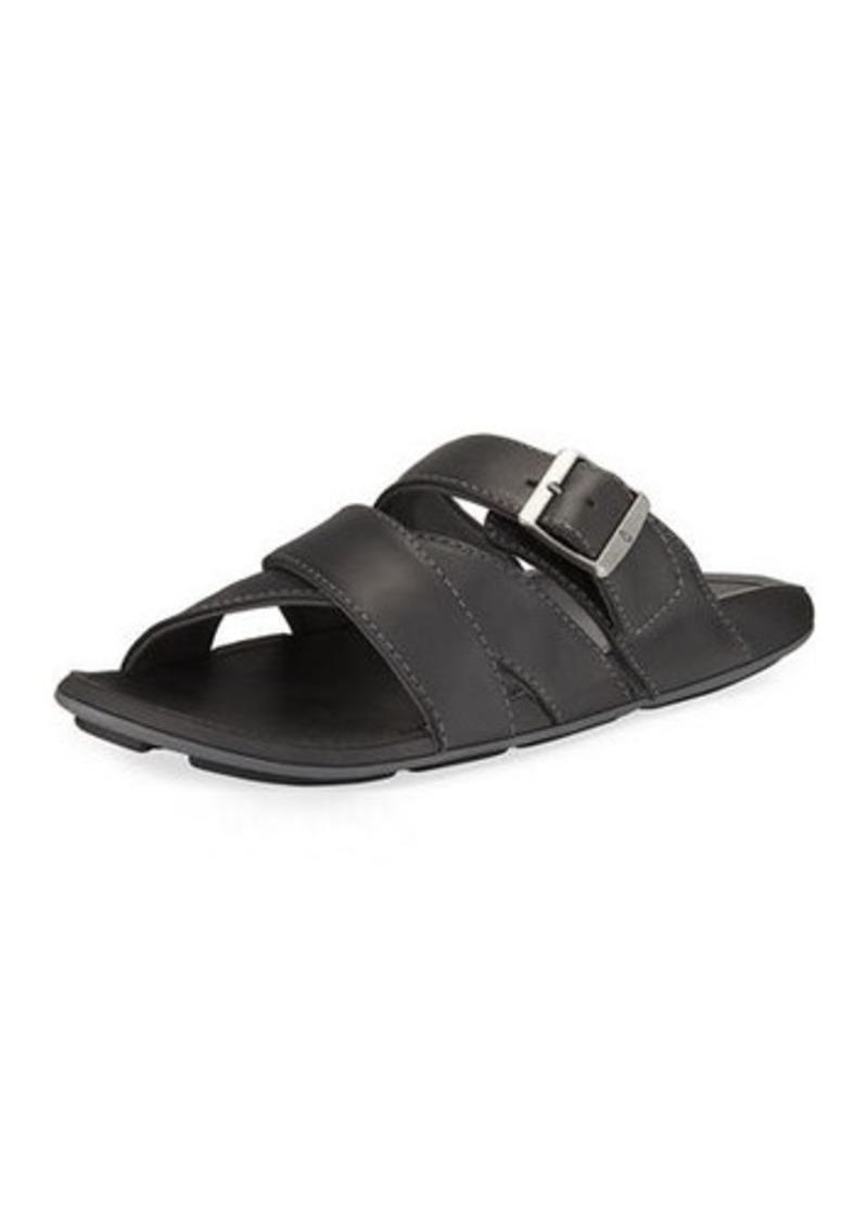 f33235e2936e OluKai Kaupe a Leather Slide Sandal