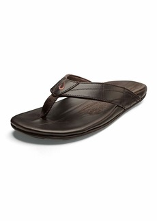 OluKai Men's Hokulea Kia Leather Flip-Flop Sandals