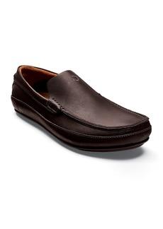 OluKai Men's Kulana Leather Slip-On Loafers  Dark Brown