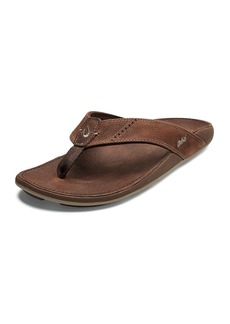 OluKai Men's Nui Faux-Leather Flip-Flop Sandals