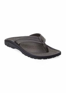 OluKai Men's ʻOhana Koa Thong Sandals  Gray