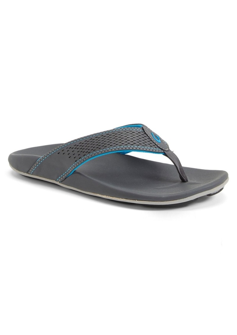 OluKai 'Kekoa' Water Resistant Perforated Flip Flop (Men)