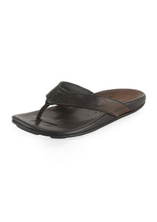 Olukai Kulai Leather Thong Sandal