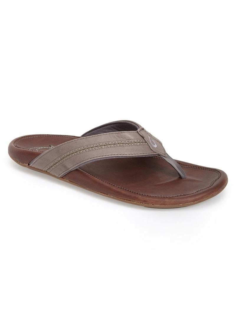 4b7999ef42c OluKai OluKai  Maka  Leather Flip Flop (Men)