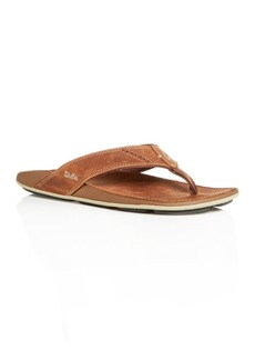 Olukai Men's Nui Leather Flip-Flops