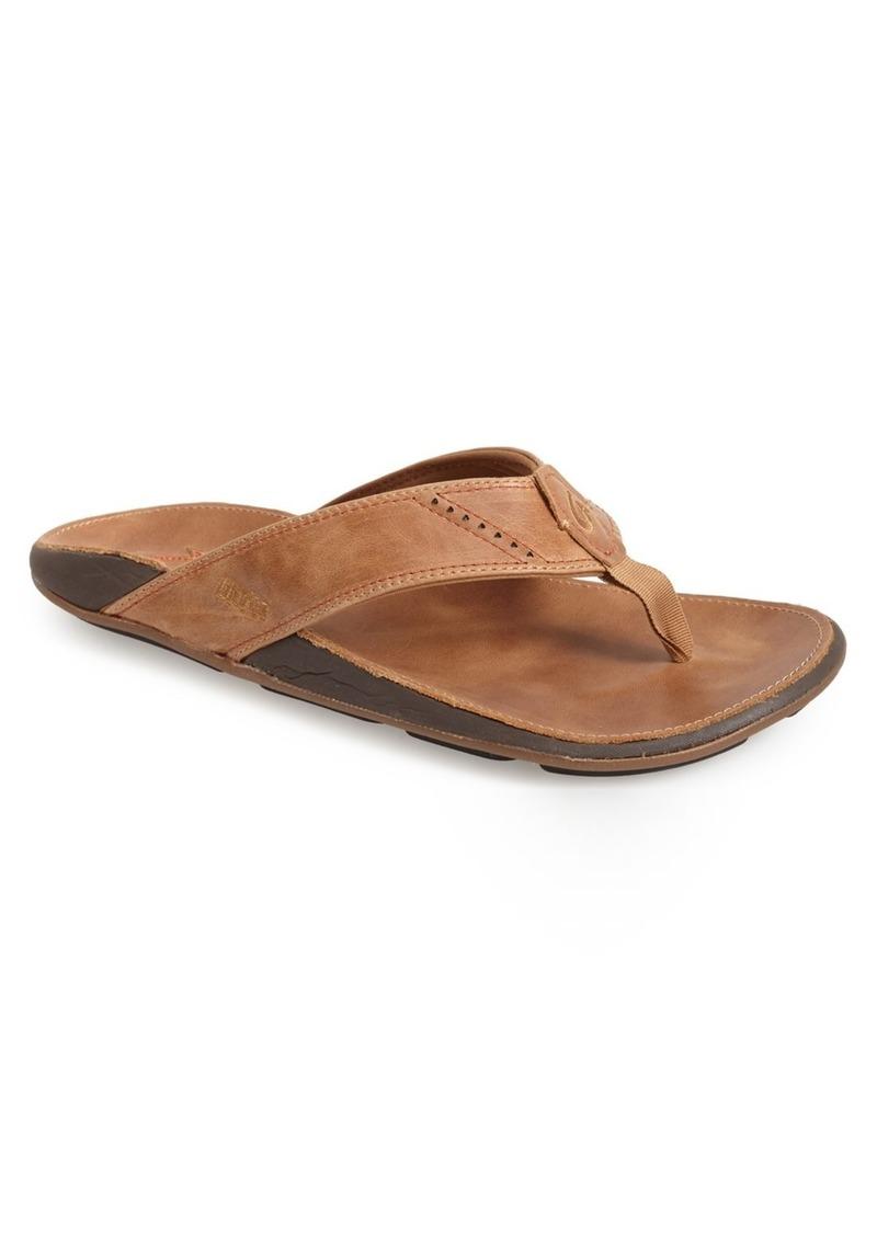 1e79c653801f OluKai OluKai  Nui  Leather Flip Flop (Men)