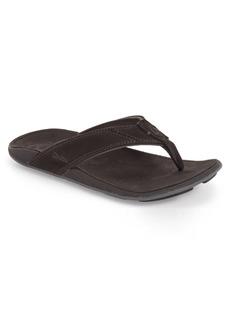 OluKai 'Nui' Leather Flip Flop (Men)