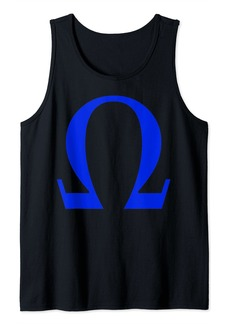 Alpha Omega Letter Greek Alphabet Tank Top