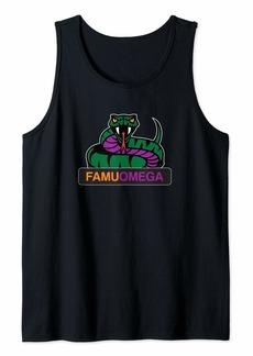 Mens Omega FAMUs Que Design Theme Psi Phi Purple and Gold Rattler Tank Top
