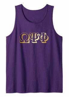 Mens Omega Fraternity Psi Gear Phi Merch Frat Gift Mens Apparel Tank Top