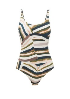 On the Island By Marios Schwab Gialos printed square-neck swimsuit