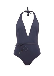 On the Island By Marios Schwab Double Boa one-shouldered swimsuit
