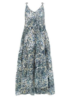 On the Island By Marios Schwab Missi tiered floral-print silk dress