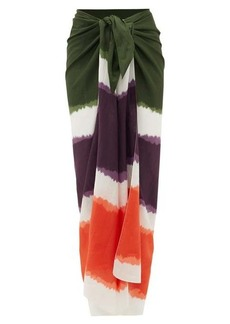 On the Island By Marios Schwab Tie-dye cotton-blend sarong