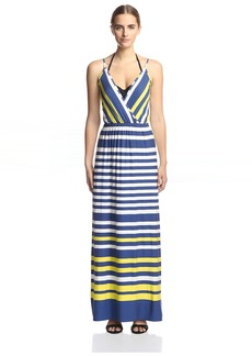 OndadeMar Women's Nautical Spring Maxi Dress  L