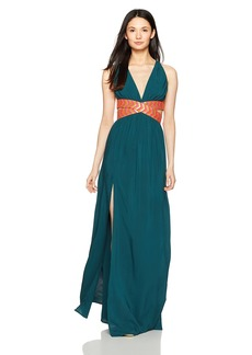 OndadeMar Women's Solid Cut Out Long Dress  L
