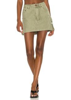 One Teaspoon Vanguard Mid Rise Relaxed Denim Mini Skirt