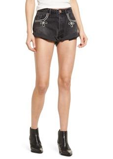 Women's One Teaspoon Bandits Embroidered Cuffed Denim Shorts