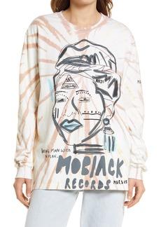 Women's One Teaspoon Moblack Records Tie Dye Graphic Tee
