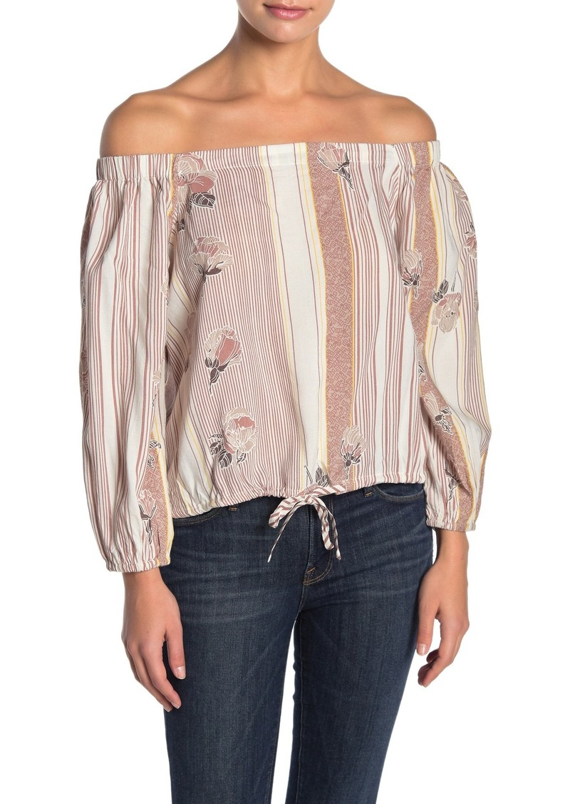 O'Neill Adalyn Off-the-Shoulder Drawstring Hem Top