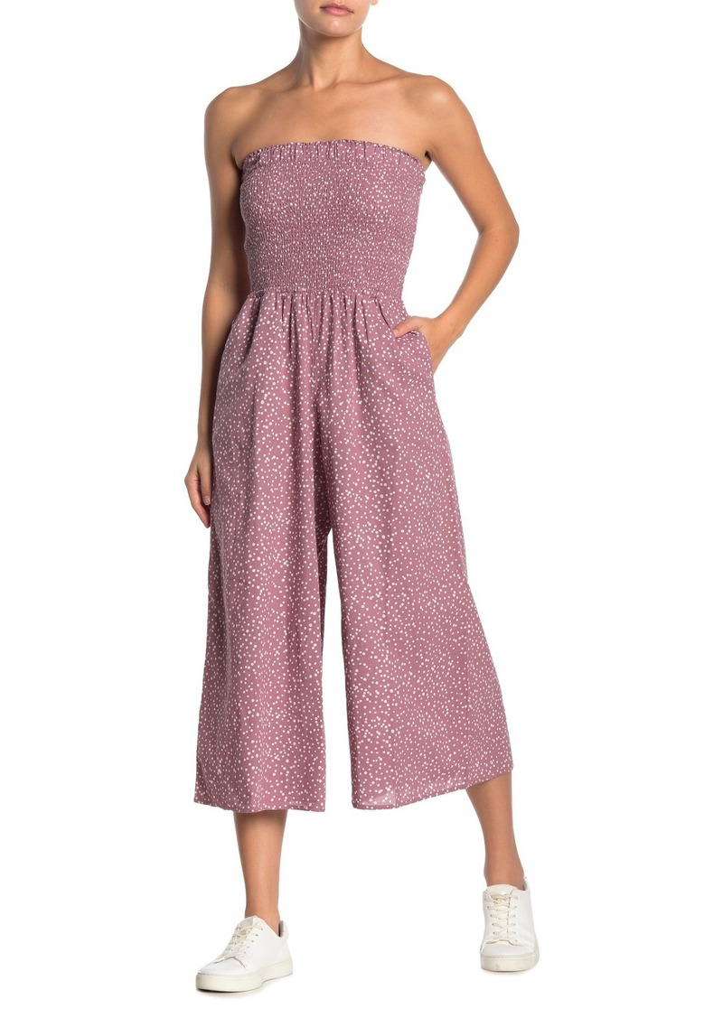 O'Neill Alicia Strapless Crop Jumpsuit