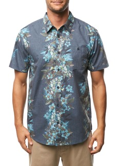 Billabong Maile Party Print Short Sleeve Button Up Sport Shirt