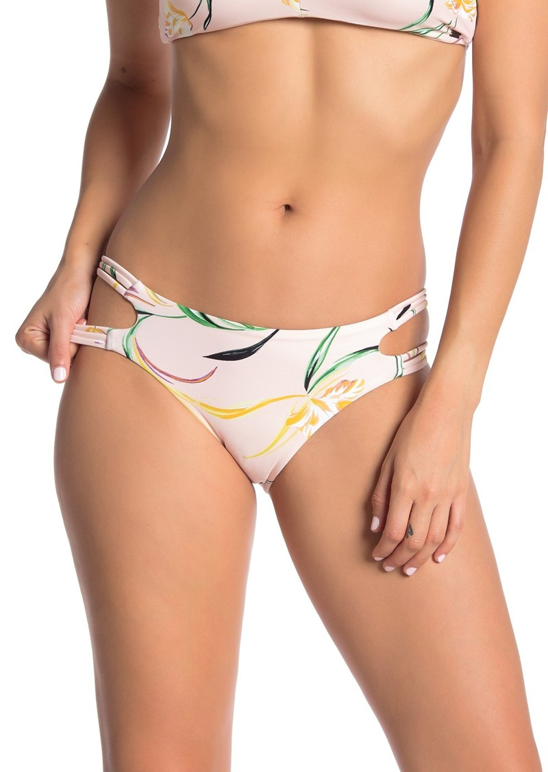 O'Neill Claris Floral Strappy Bikini Bottoms