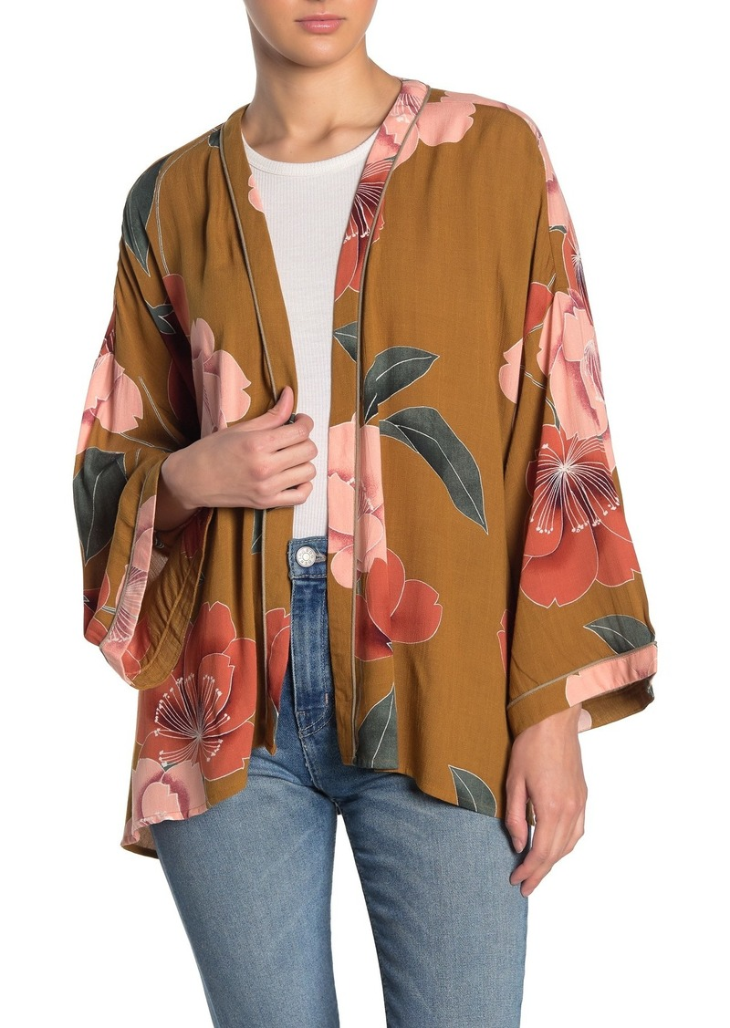 O'Neill Embry Floral Open Front Cardigan