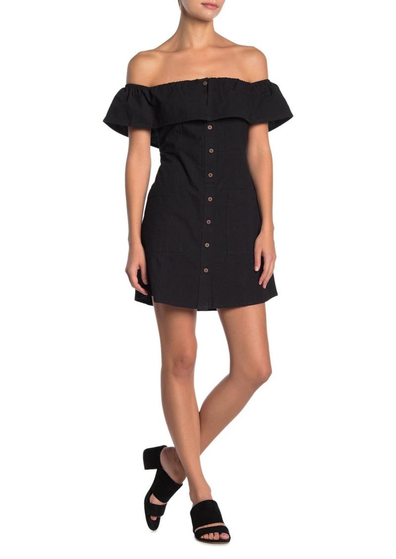 O'Neill Esmeralda Off-the-Shoulder Dress