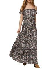 O'Neill Floral Print Tiered Maxi Dress