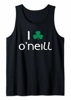I Clover O'Neill St. Patrick's Day Irish Shamrock Gift Tank Top