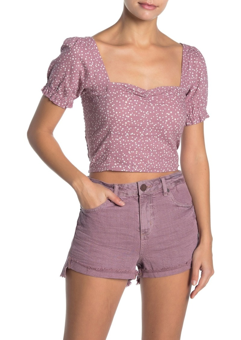 O'Neill Julyette Puff Sleeve Crop Top