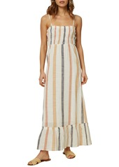O'Neill Lane Striped Sleeveless Maxi Dress