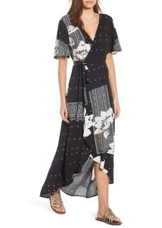 O'Neill Alamante Print Wrap Dress