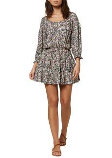 O'Neill Amaryn Ditsy Floral Long Sleeve Minidress