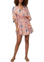 O'Neill Amaze Floral Print Minidress