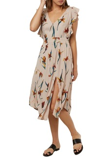 O'Neill Amberlynn Flutter Sleeve Midi Dress