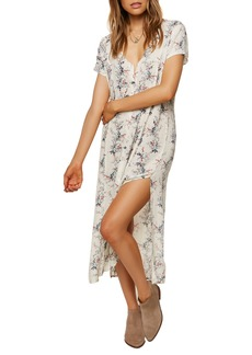 O'Neill Amour Button Front Floral Dress