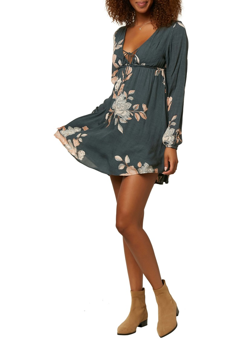 O'Neill Beverly Floral Long Sleeve Minidress