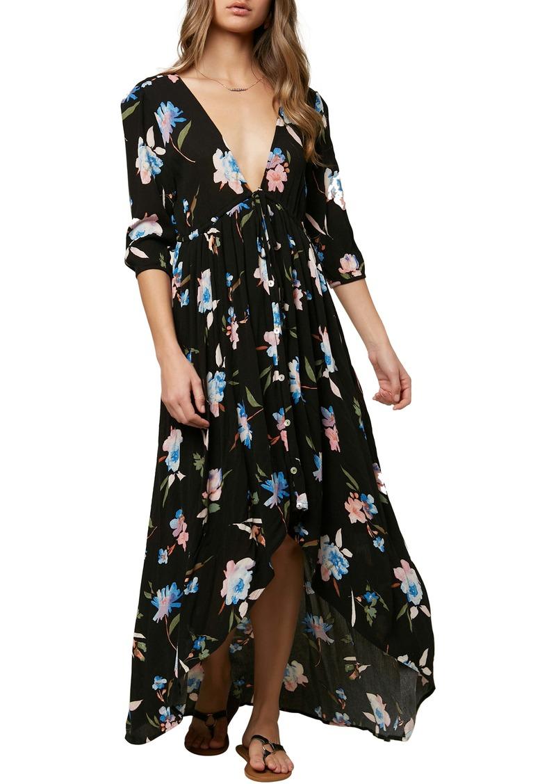 O'Neill Boyce Floral High/Low Maxi Dress