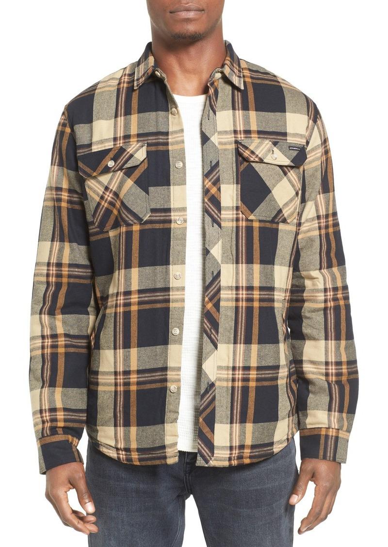 O'Neill Brawn Regular Fit Plaid Flannel Shirt Jacket